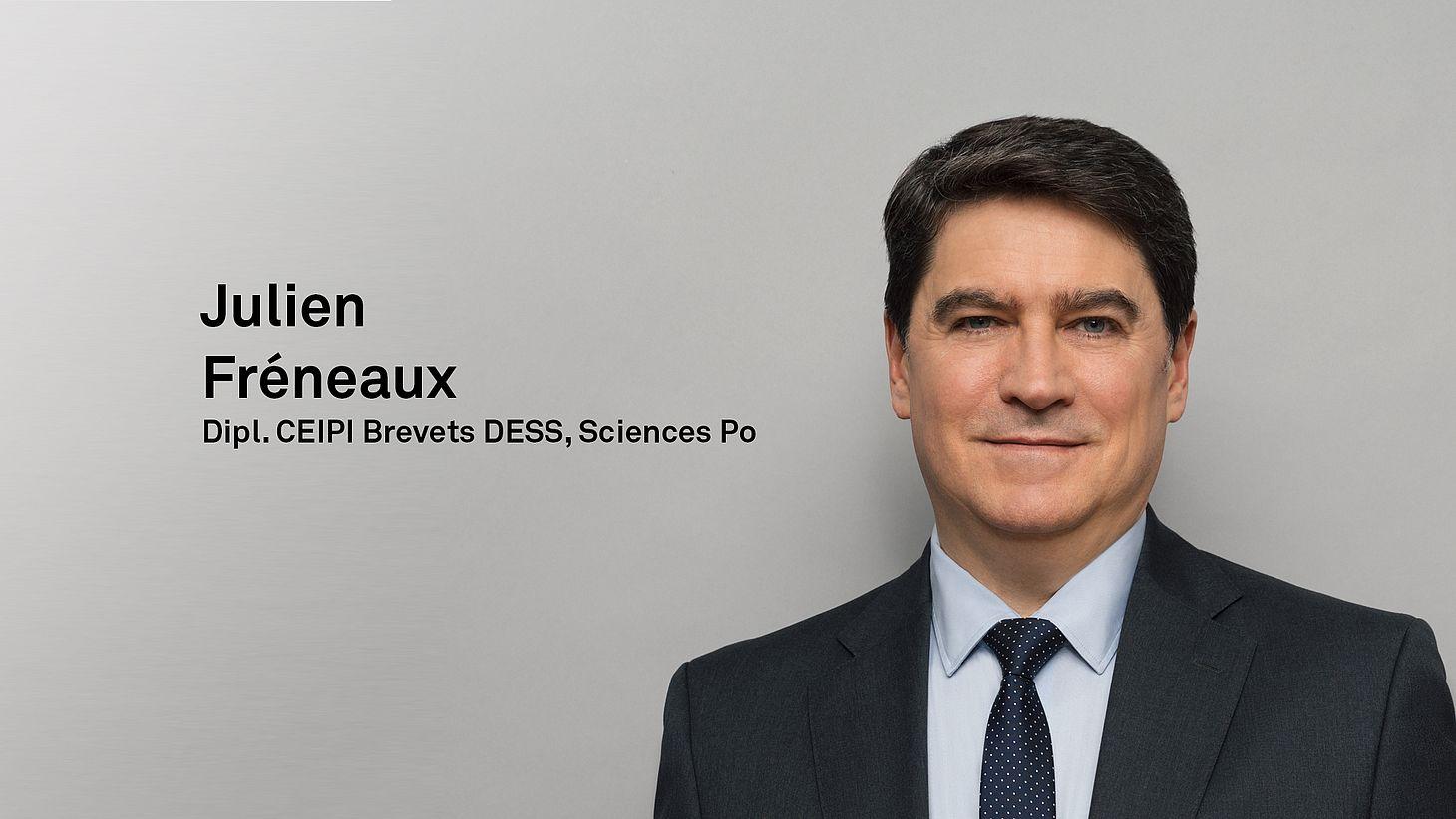Dipl. CEIPI Brevets, DESS, Sciences-Po Julien Fréneaux